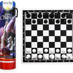 Pagos Chess Set - Portable Travel Chess Board Game